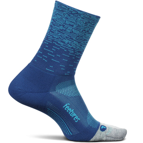 FEETURES ELITE LIGHT CUSHION MINI CREW BLUE STATIC