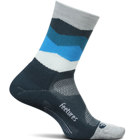 FEETURES ELITE LIGHT CUSHION MINI CREW BLUE WAVES