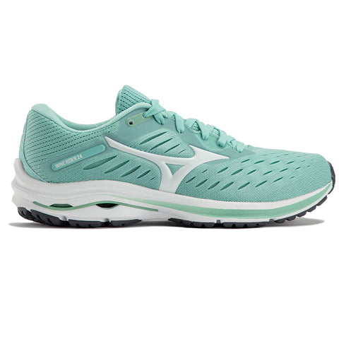 MIZUNO WAVE RIDER 24 WOMEN'S EGGSHELL BLUE WHITE