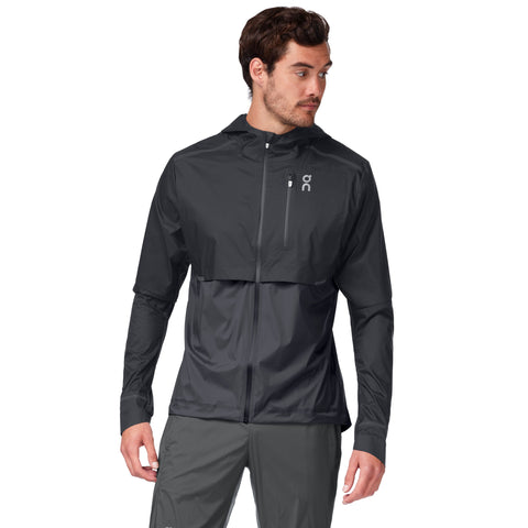 ON WEATHER JACKET MEN'S BLACK SHADOW