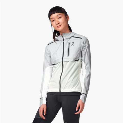 ON WEATHER JACKET WOMEN'S ICE WHITE