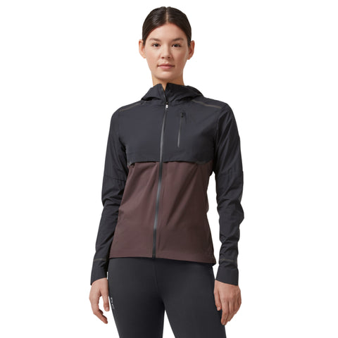 ON WEATHER JACKET WOMEN'S BLACK PEBBLE