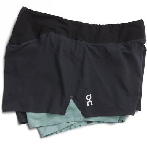 ON RUNNING WOMEN'S BLACK SHORTS