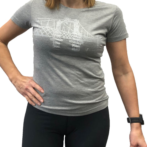 RUNNING FORM FERRY BRIDGE TEE WOMEN'S  HEATHER GREY