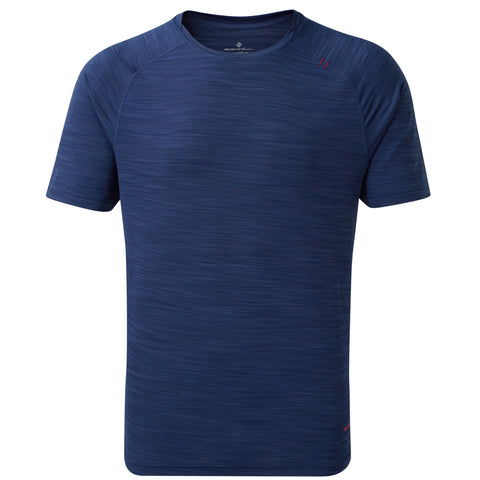 Ronhill Infinity Air-Dry Tee Midnight Blue - Flame