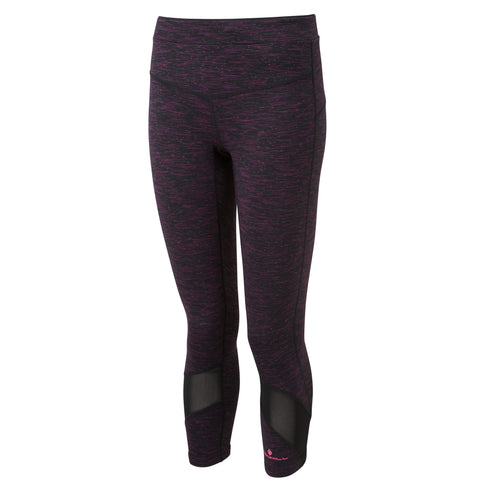 RONHILL WOMEN'S INFINITY CROP TIGHT BLACK/GRAPE JUICE