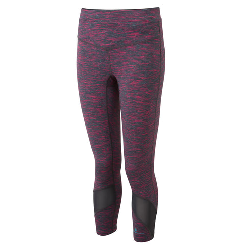 RONHILL INFINITY CROP TIGHT WOMEN'S CHARCOAL- CHERRYADE