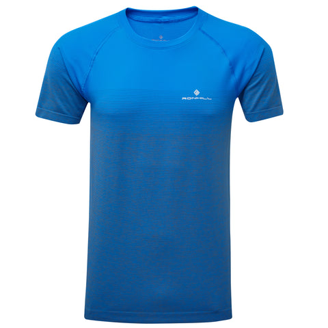 Ronhill Infinity Marathon Short Sleeve Tee Men's Electric Blue Grey Marl