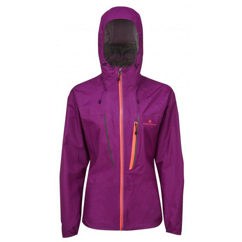 RONHILL WOMEN'S  INFINITY FORTIFY JACKET GRAPE - HOT CORAL