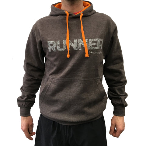 RUNNING FORM RUNNER HOODY MEN'S CHARCOAL