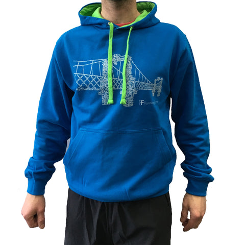 RUNNING FORM RUNNER HOODY MEN'S SAPHIRE