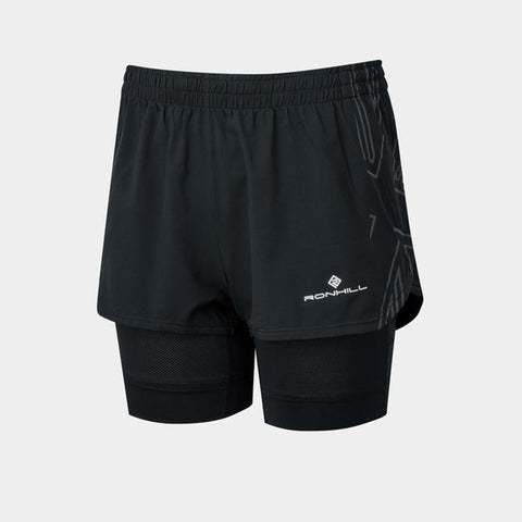 Ronhill Tech Marathon Twin Short Women's Black
