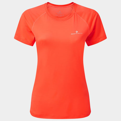 Ronhill Women's Tech s/s Tee Hot Coral