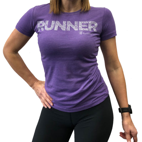 RUNNING FORM RUNNER TEE WOMEN'S HEATHER GREY