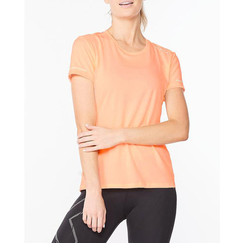 2xu Aero Tee Women's Pop Coral/White Reflective