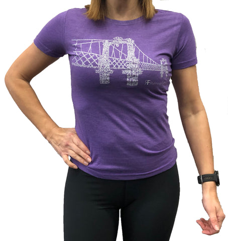 RUNNING FORM FERRY BRIDGE TEE WOMEN'S HEATHER PURPLE