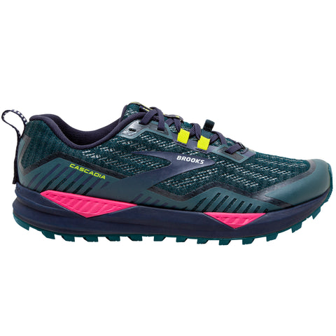 Brooks Cascadia 15 Women's Navy Pink Yellow