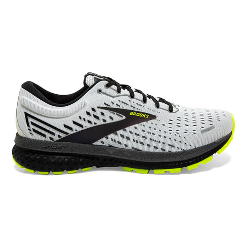 BROOKS GHOST 13 MEN'S WHITE BLACK NIGHTLIFE