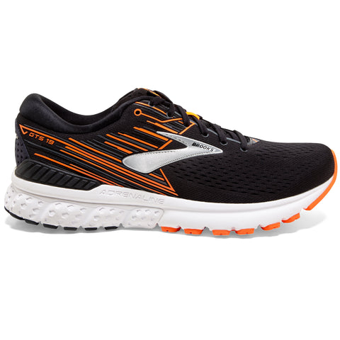 BROOKS ADRENALINE GTS 19 MEN'S BLACK ORANGE SILVER