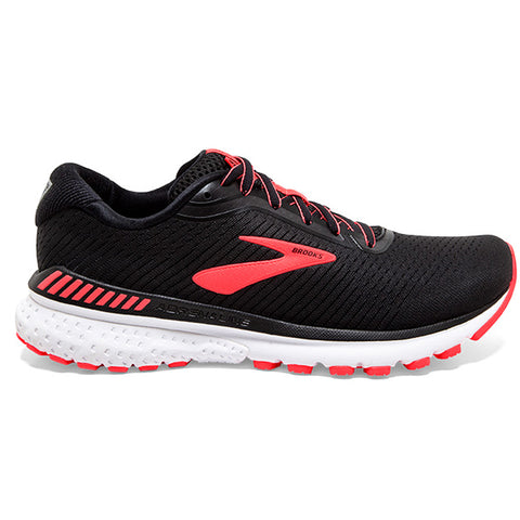 AW20 BROOKS ADRENALINE GTS 20 WOMEN'S BLACK - WHITE - CORAL