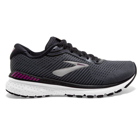 Brooks Adrenaline GTS 20 Women's Wide Fit D Black White Hollyhock