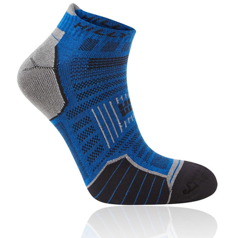 Hilly Twin Skin Socklet Azurite Grey Marl