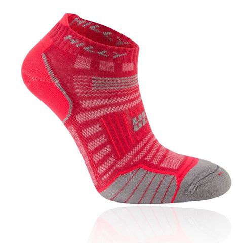 Hilly Twin Skin Socklet Women's Magenta Grey Marl