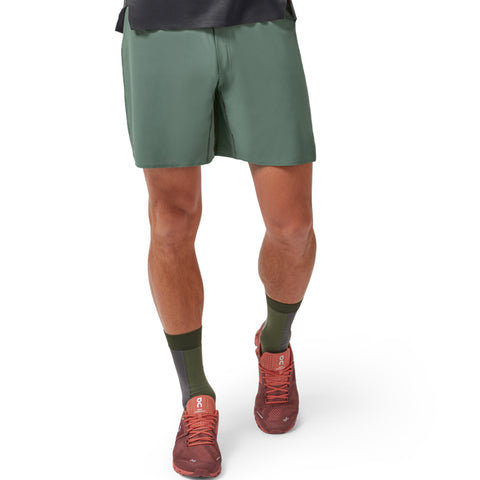 ON LIGHTWEIGHT MEN'S OLIVE SHORTS