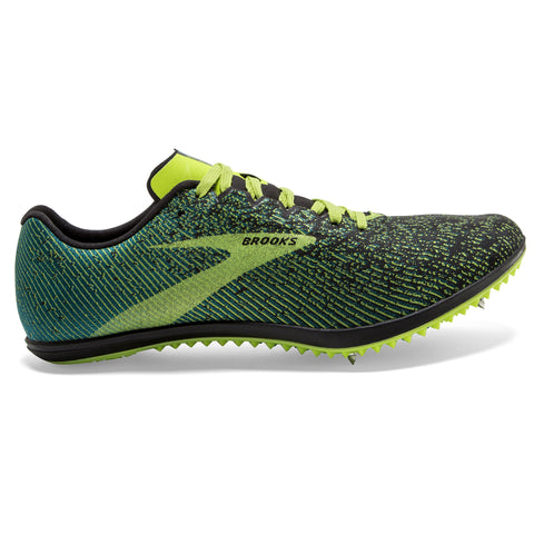 Brooks Mach 19 Spike Men's Black Shoots Blue Grass