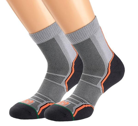 1000 Mile Trail Sock Twin Pack Men's Grey