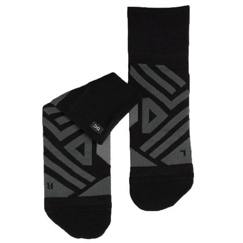 ON RUNNING MID SOCK MEN'S BLACK SHADOW