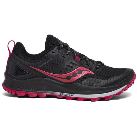 SAUCONY PEREGRINE 10 WOMENS BLACK BARBERRY
