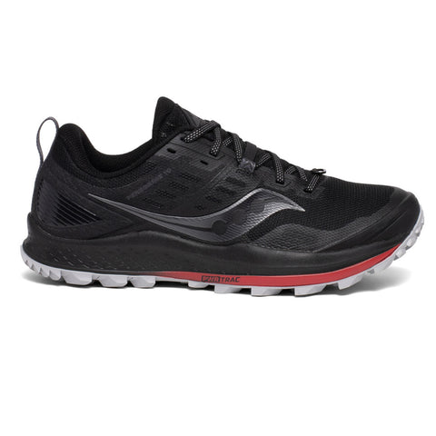 SAUCONY PEREGRINE 10  MENS BLACK RED