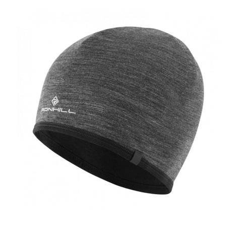 Ronhill Reversible Merino Hat Grey Marl Black