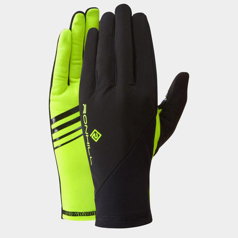 Ronhill Wind Block Glove Black Yellow