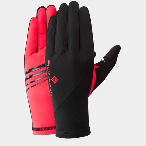 Ronhill Wind Block Glove Black Hot Pink