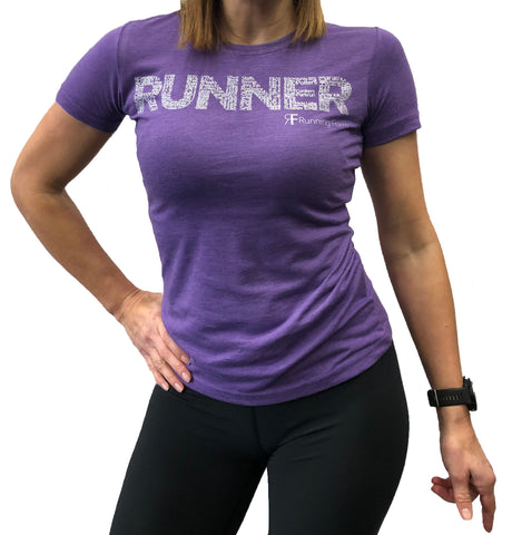 RUNNING FORM RUNNER TEE WOMEN'S HEATHER PURPLE
