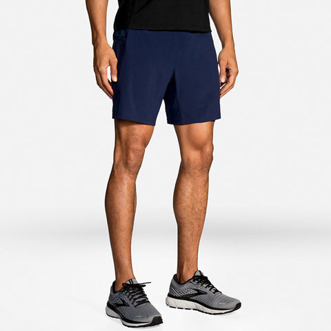 "Brooks 7"" 2In1 Shorts Men's Navy"