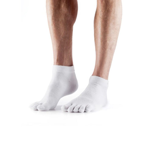 TOESOX LIGHTWEIGHT ANKLE WHITE