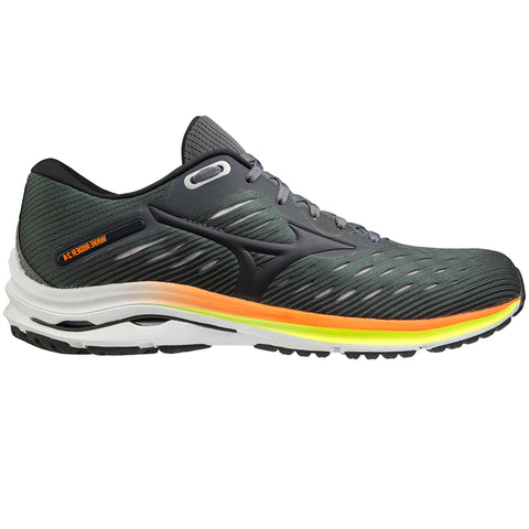 MIZUNO WAVE RIDER 24 MEN'S CASTLEROCK - PHANTOM - SHOCKING ORANGE