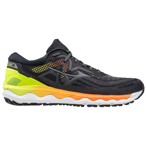 AW20 MIZUNO WAVE SKY 4 MEN'S PHANTOM - CASTLEROCK - SAFETY YELLOW