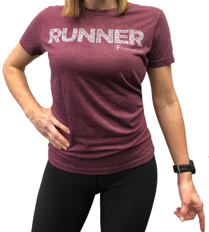 RUNNING FORM RUNNER TEE WOMEN'S HEATHER BURGANDY