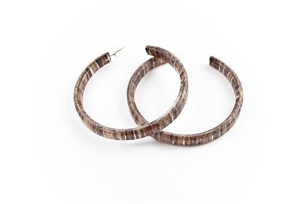 Banana Fibre Hoop Earrings - Large