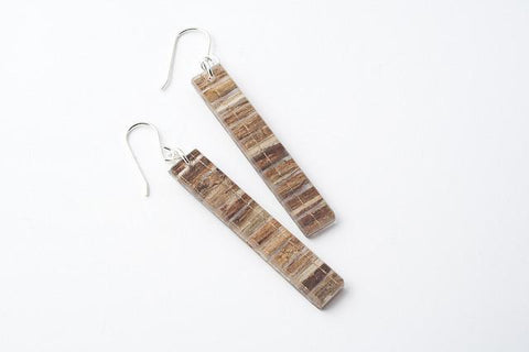 Banana Fibre Earrings - Long