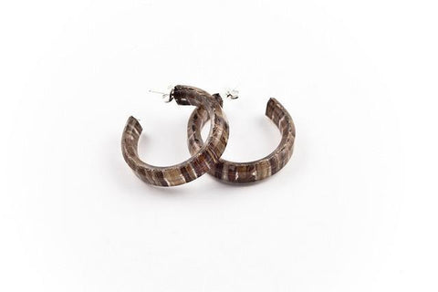 Banana Fibre Hoop Earrings - Small