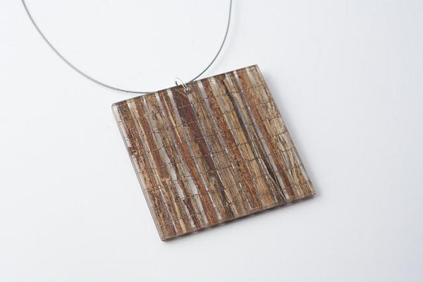 Banana Fibre Necklace - Lrg Square