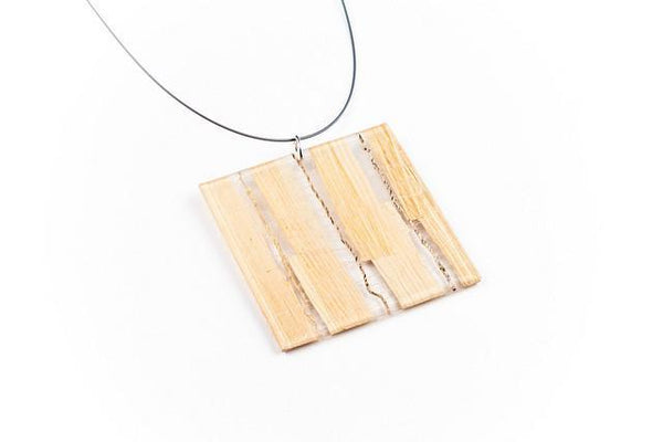 Banana Fibre Light Necklace - Lrg Square