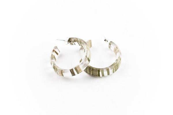 Bear Grass Lite Hoop Earrings - Small