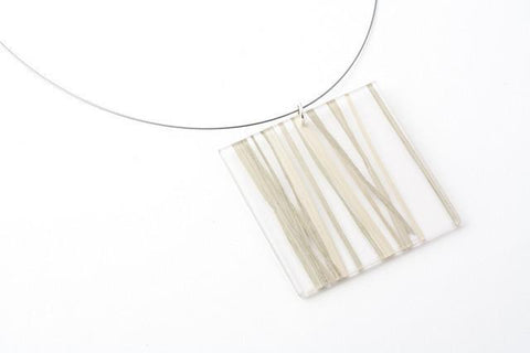 Bear Grass Lite Necklace - Lrg Square