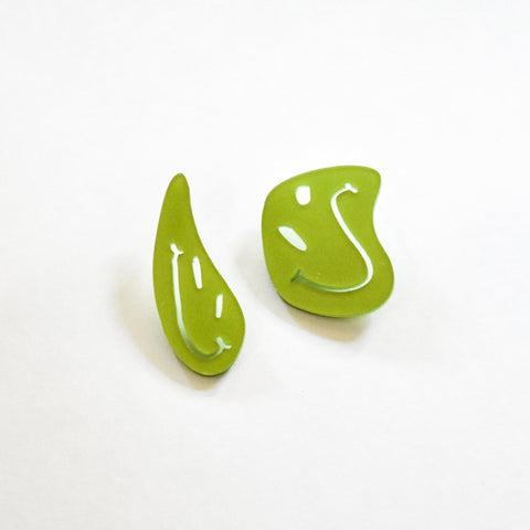 Chartreuse Earrings - Smiley